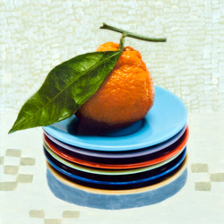 Tangerine and Plates