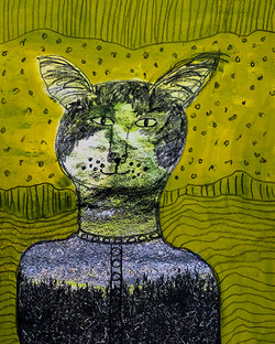 Green Eyed Cat - sold