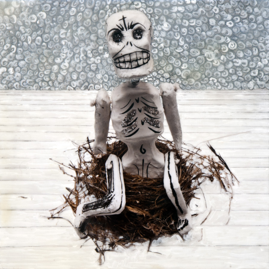 Sitting Skelton - sold