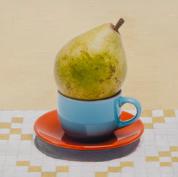Cup. Saucer. GreenPear