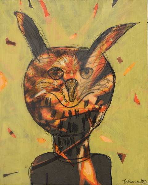Orange Owl Spirit - sold