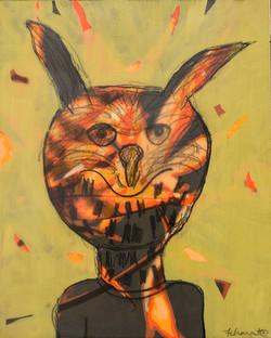 Orange Owl Spirit - sold