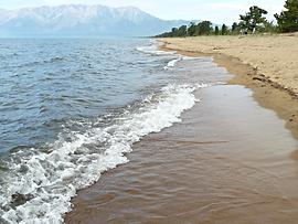 Пляж в мягкой Карге.