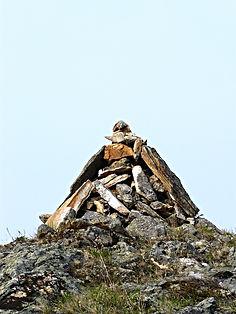 Обо - каменная пирамида.
