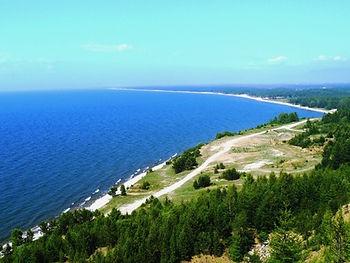 Баргузинский залив. Вид с горы Холодянки.