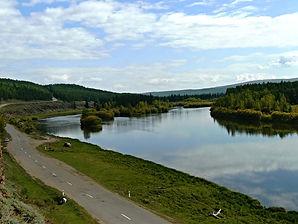 Река Лена в районе качуга.