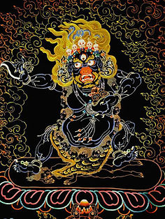 Жамсаран - кровожадный и грозный буддисткий бог.