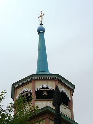 Колокольня церкви Николая Чудотворца в Листвянке
