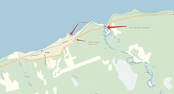 Схема проезда к старой пристани в Танхое.