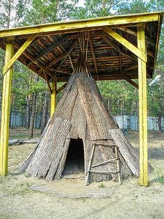 Урса, традиционное жилище сойотов.