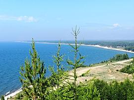 Баргузинский залив, вид с горы Холодянки.