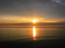 Закат над Баргузинским заливом.