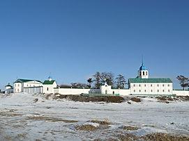 Посольский монастырь, вид с Байкала.