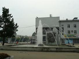 ангарск фонтан возле дк современник