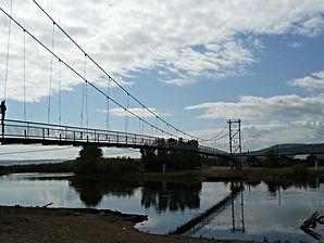 Подвесной мост через Лену в Качуге.