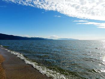 Баргузинский залив озера Байкал.