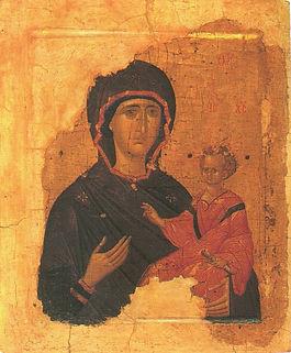 Икона Божией матери Одигитрия, Византия, 15 век.