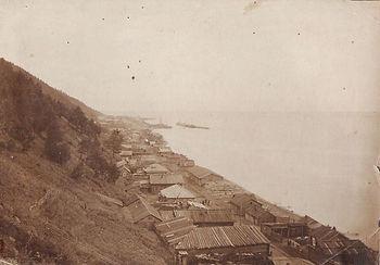 Вид на Листвянку с горы Крестовая