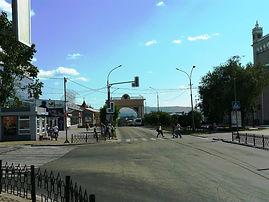 Триумфальная арка в Улан-Удэ.