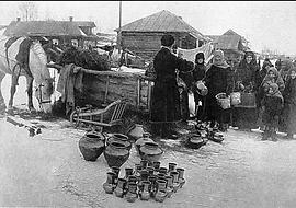 Торговец на улице Усть-Баргузина.