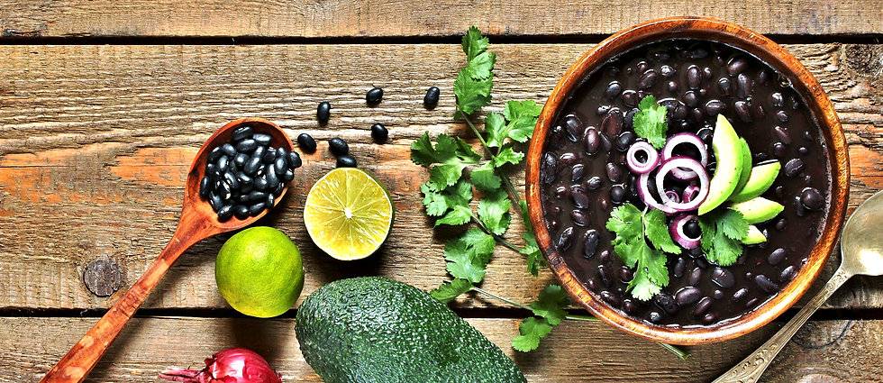 black bean soup or stew. Latin American