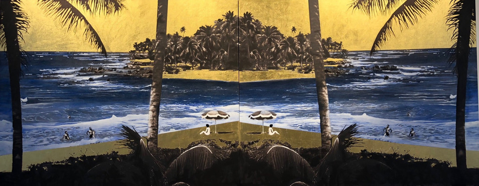 Golden Beach Dyptich
