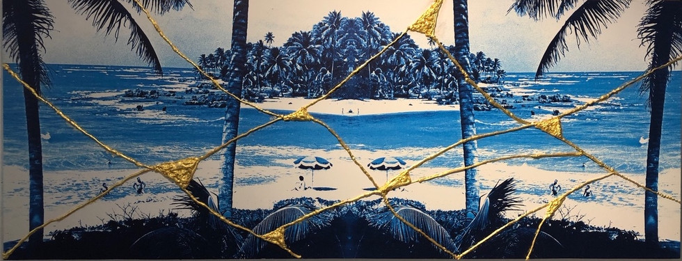 Blue Paradise 36 x 93 in
