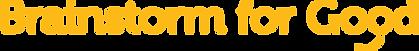 Brainstorm for Good Logo