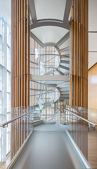 Federal Courthouse stair tower photograph