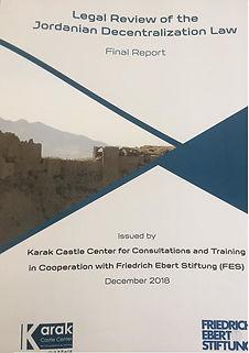 Publication: Legal Review of the Jordanian Decentralization Law Report