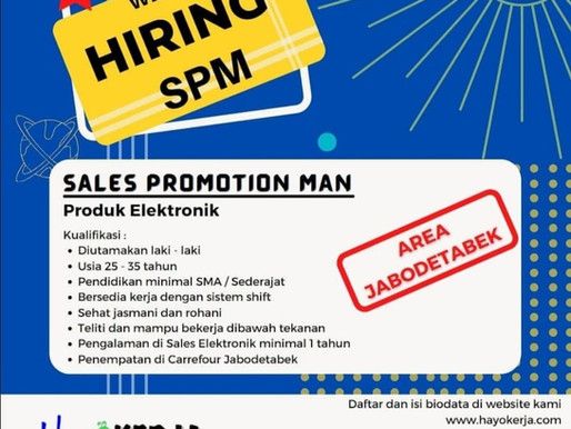 SALES PROMOTION MAN (PRODUK ELEKTRONIK)