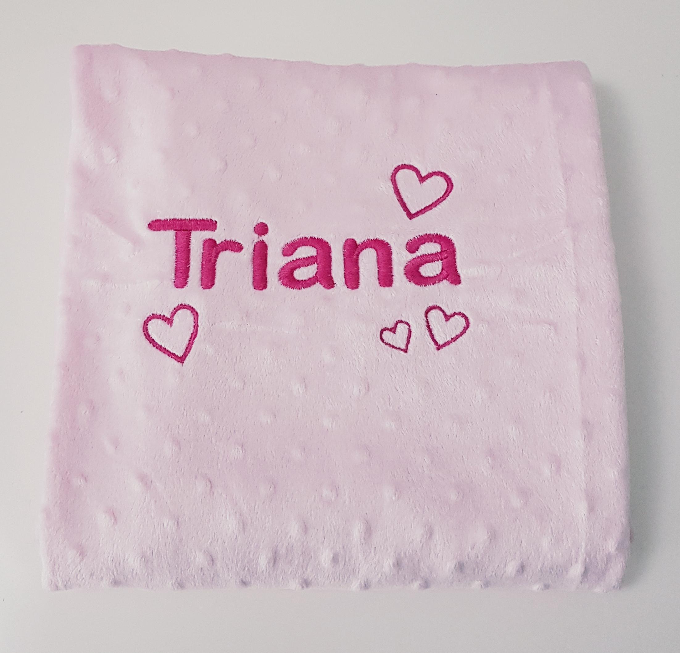color rosa Manta para beb/é EliMeli dise/ño de corazones