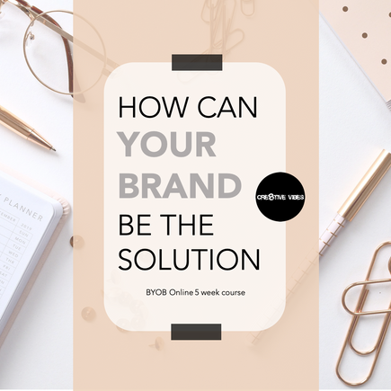 BYOB: Step 2 - Become the Solution