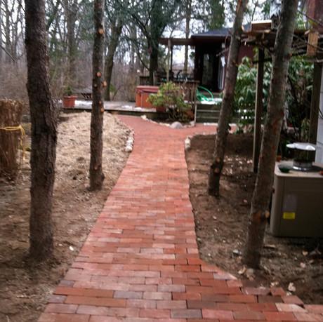 Backyard Brick Walkway