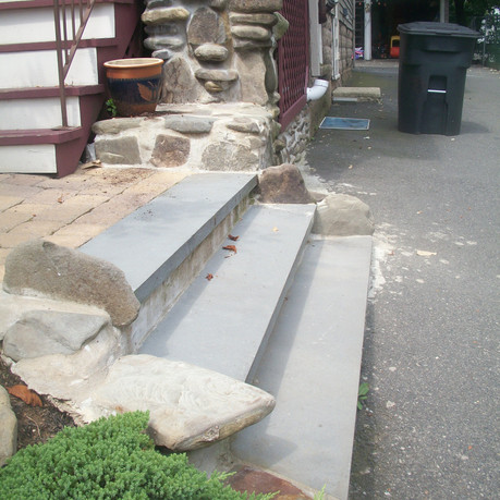Steps With Stone Exterior