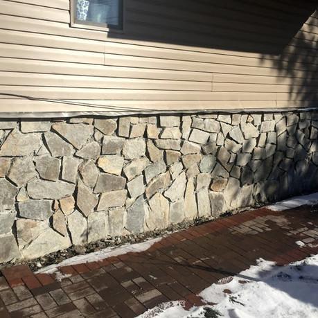 Stone Pattern on Foundation