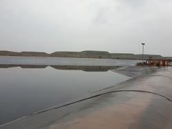 Heap leaching PLS Pond