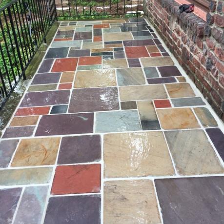 Colorful Stone Patio