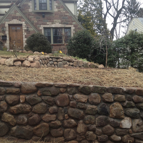 Dark Stone Retaining Wall