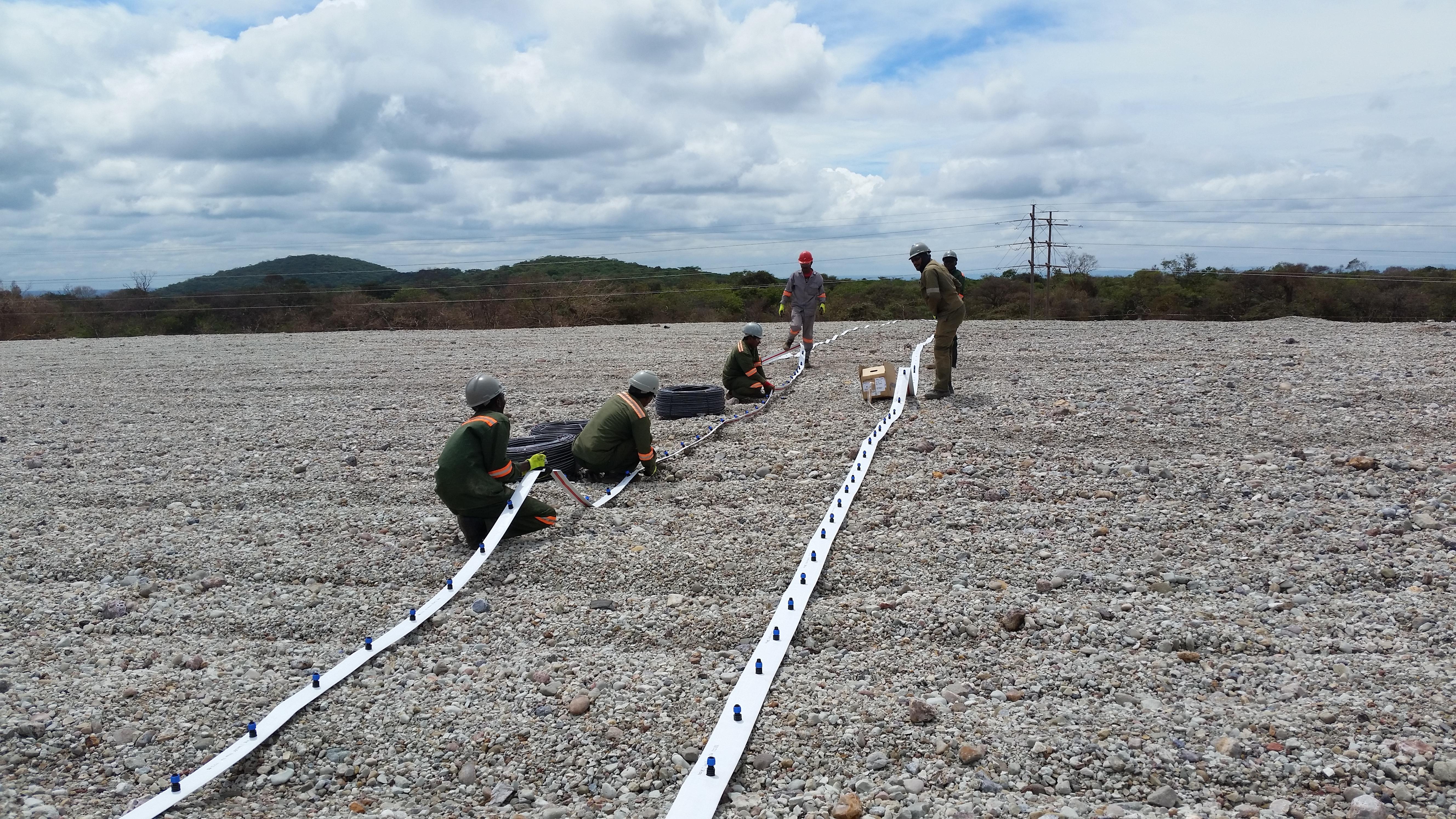 Установка трубопровода Flat net