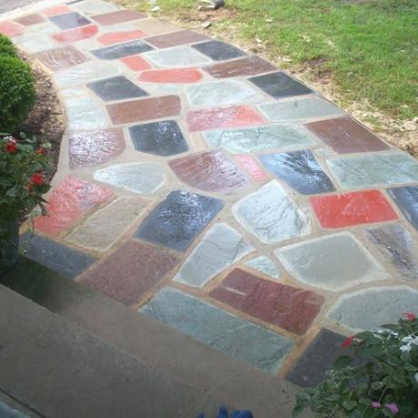 Colorful Stone Path