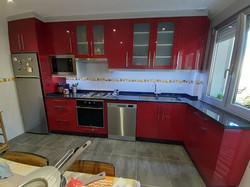 Cozinha lacada vermelha alto brilho