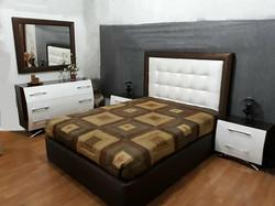 Quarto lacado c/cama estofada 1178