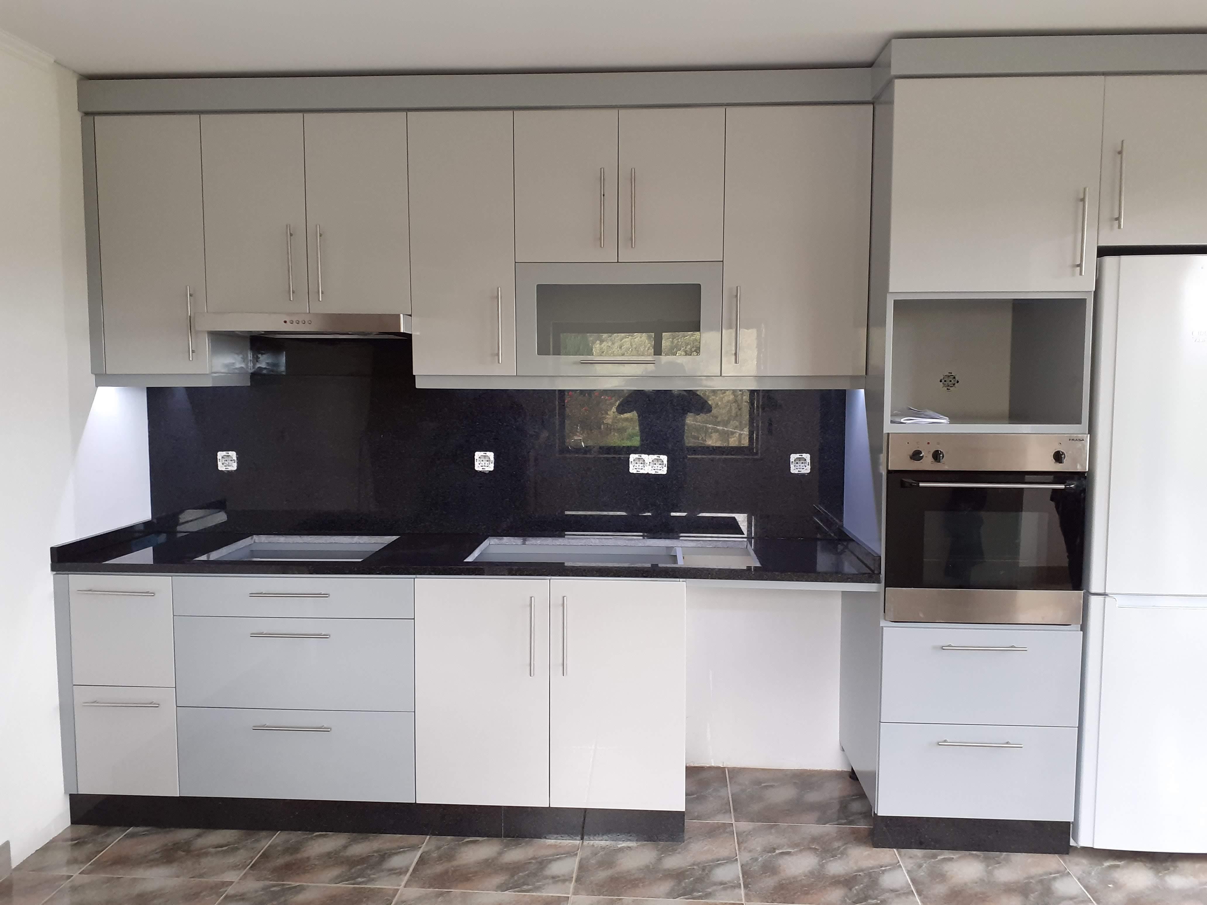 Cozinha Lacada Cinza/branco