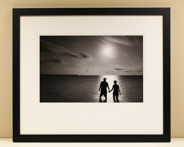 Barb and Jim Snorkel B&W Museum Print