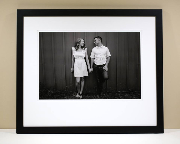 Nick and Sara B&W Museum Print
