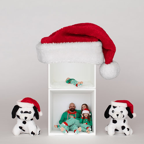Santa Tower and Puppies Template