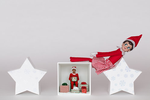 Stars Box and Elf Template
