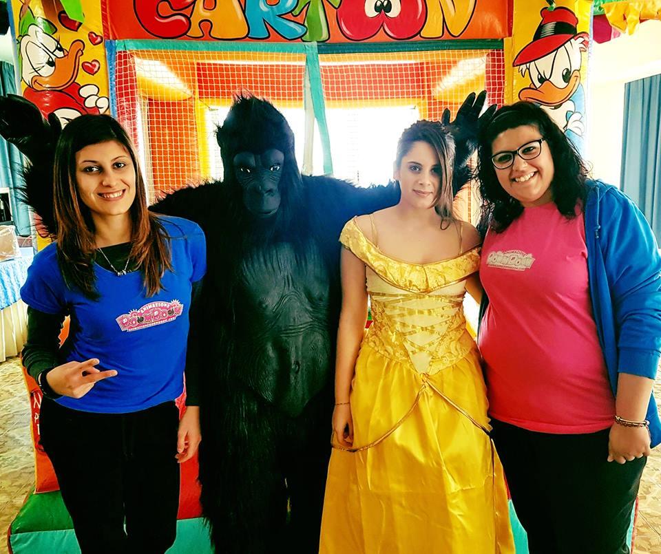 il Gorilla Occidentalis Karma e la Principessa Belle