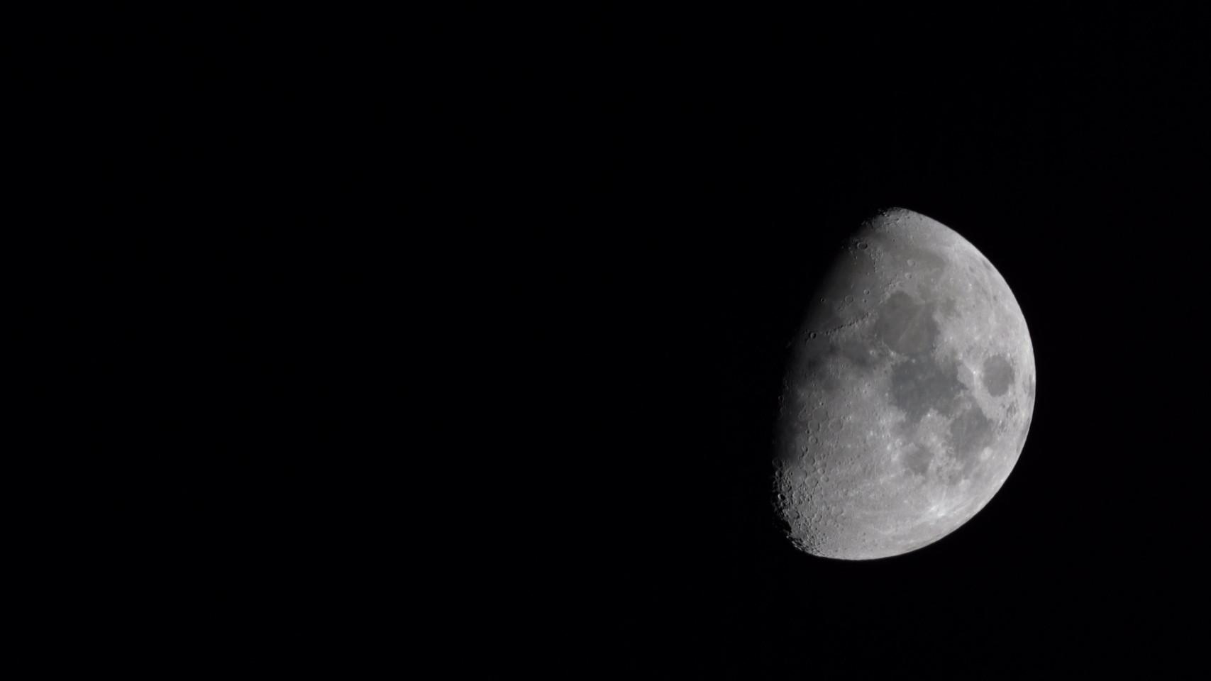Earth's Moon Sony telephoto Lens